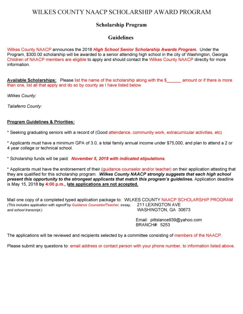 Scholarship Application form 41