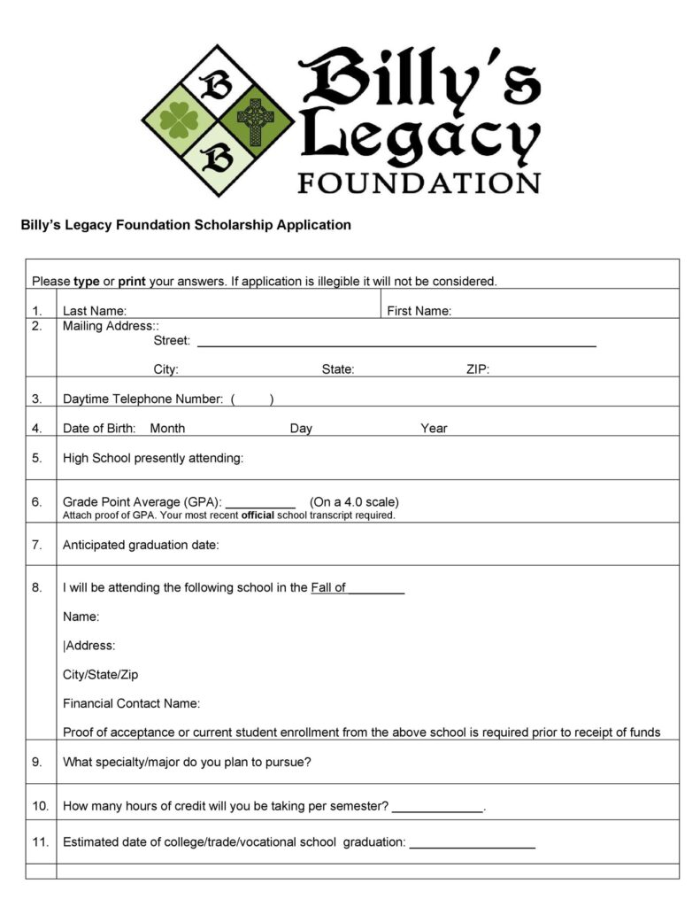 Scholarship Application form 42