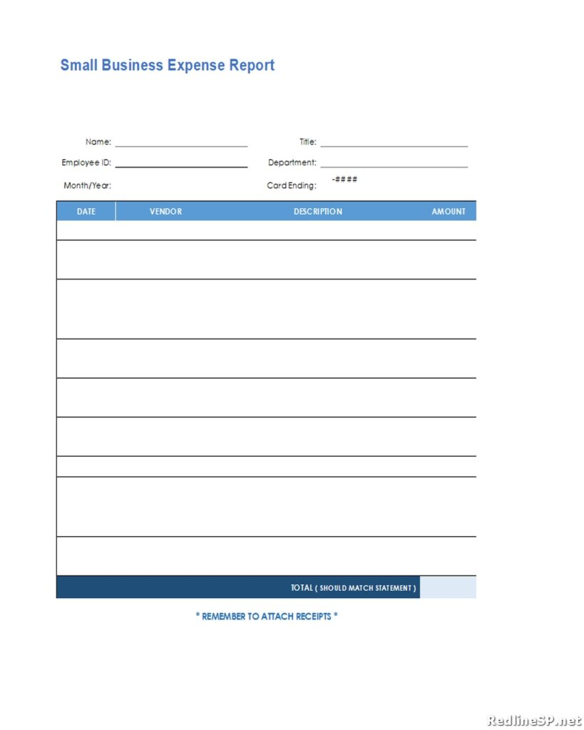 Small Business Expense Report