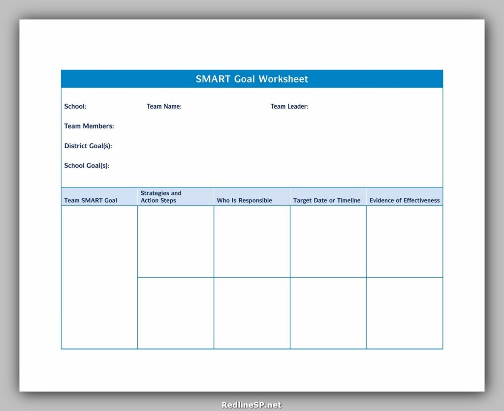 Smart Goals Template Excel 15