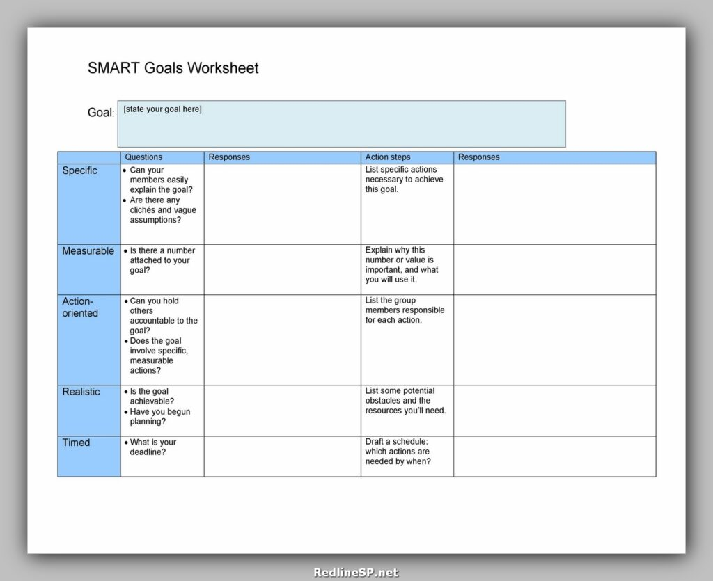 Smart Goals Template Excel 38