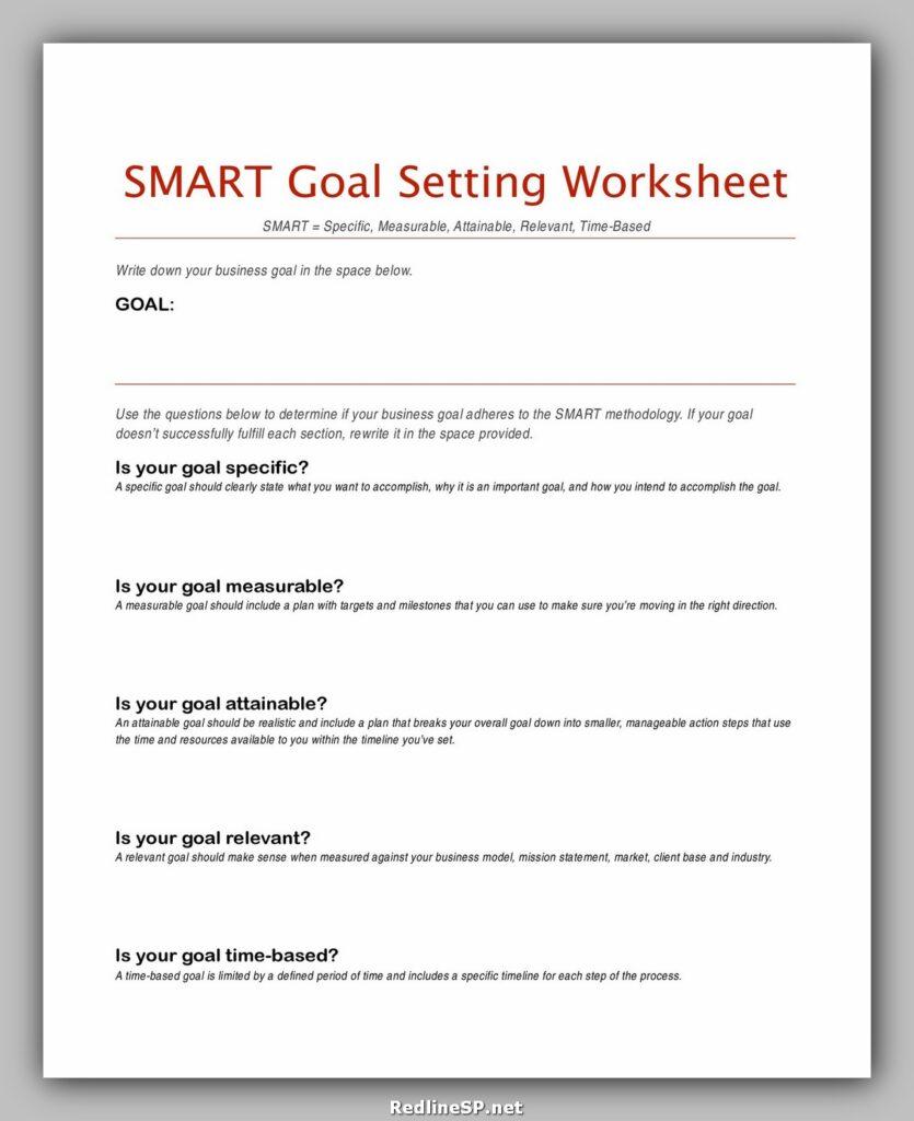 Smart Goals Template Pdf 40