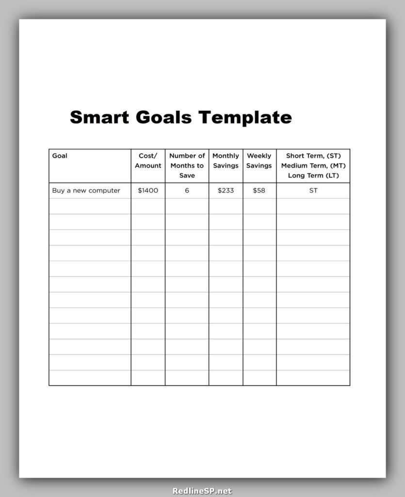 Smart Goals Template Word 11
