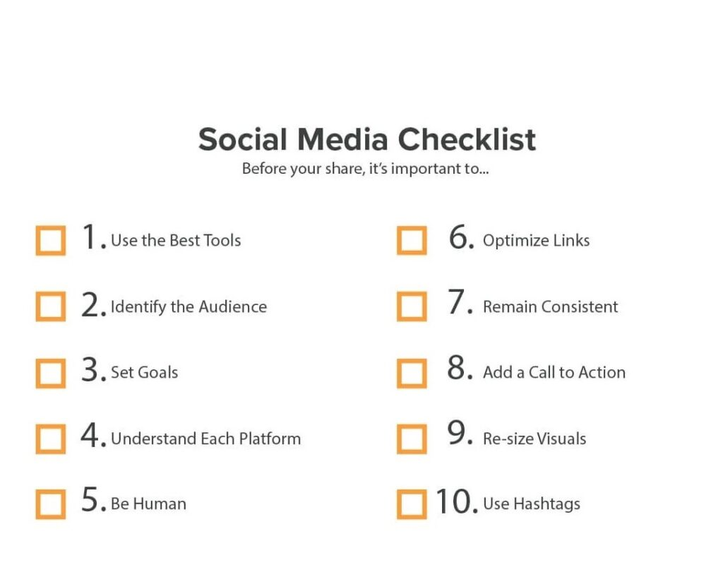 Social media checklist 03