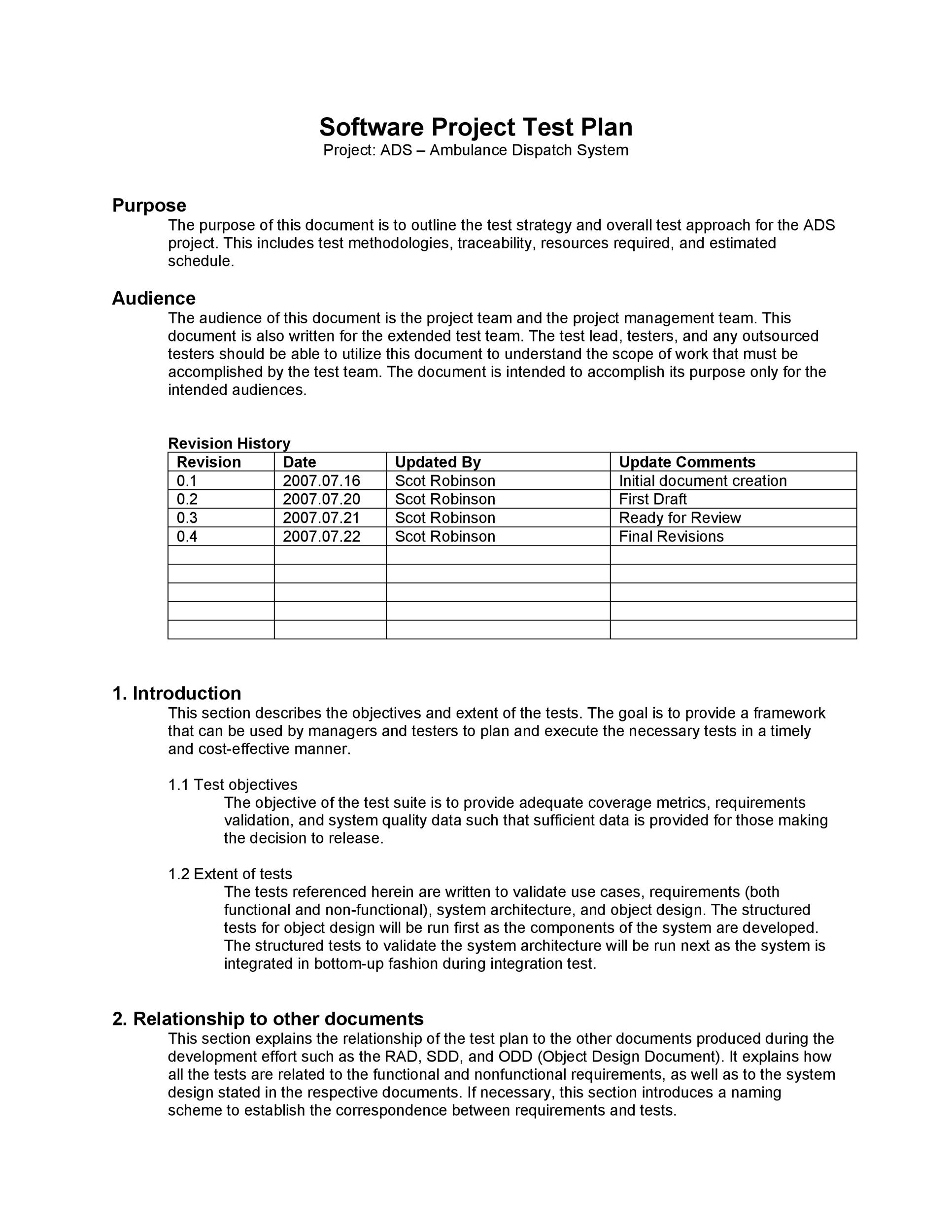 Software Test Plan Template 14