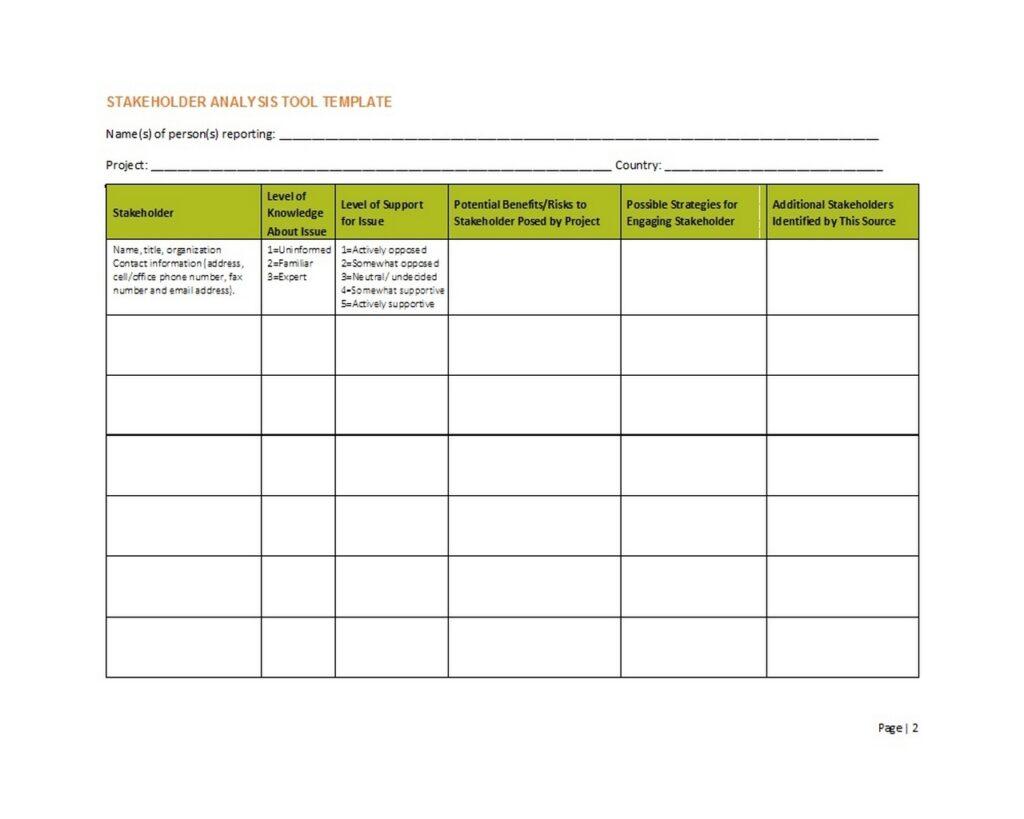Stakeholder Analysis 01