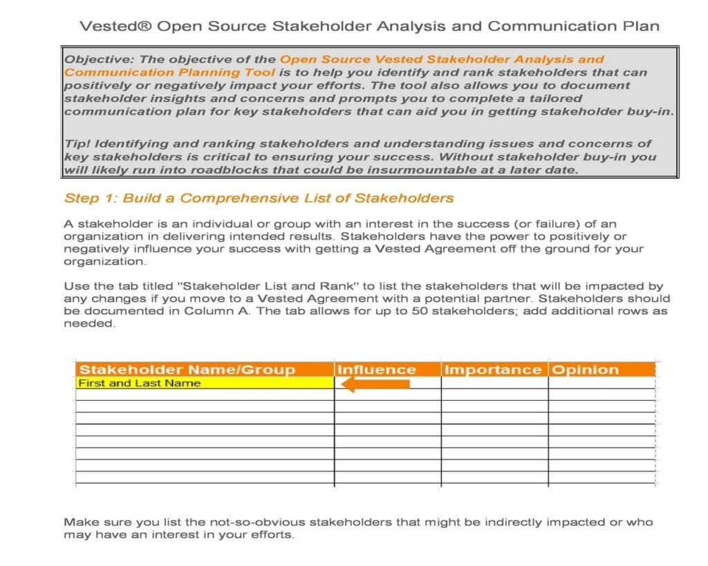 Stakeholder Analysis 07