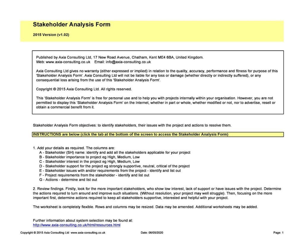 Stakeholder Analysis 08