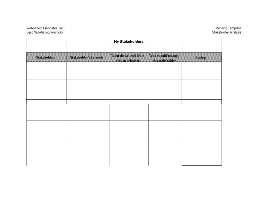 Stakeholder Analysis Example 20