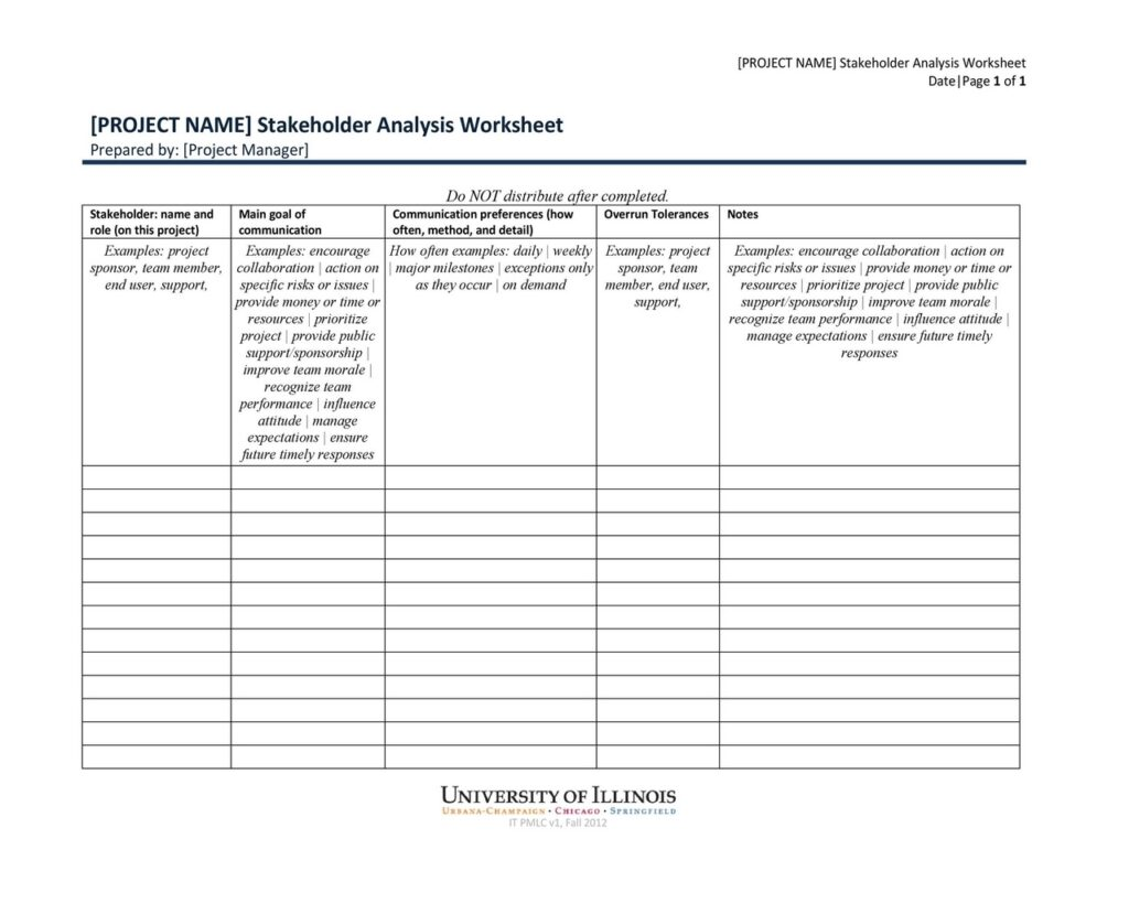 Stakeholder Analysis Example 24