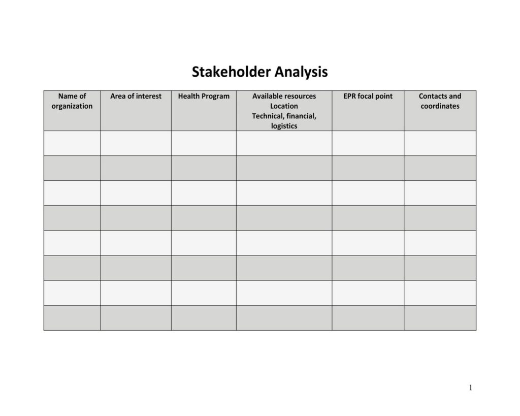 Stakeholder Analysis Example 25