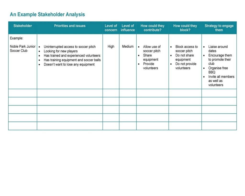 Stakeholder Analysis Matrix 45