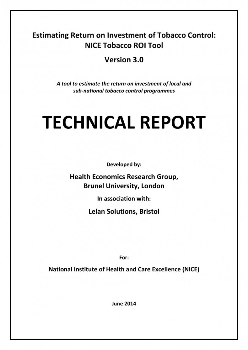 Technical Report Example 22