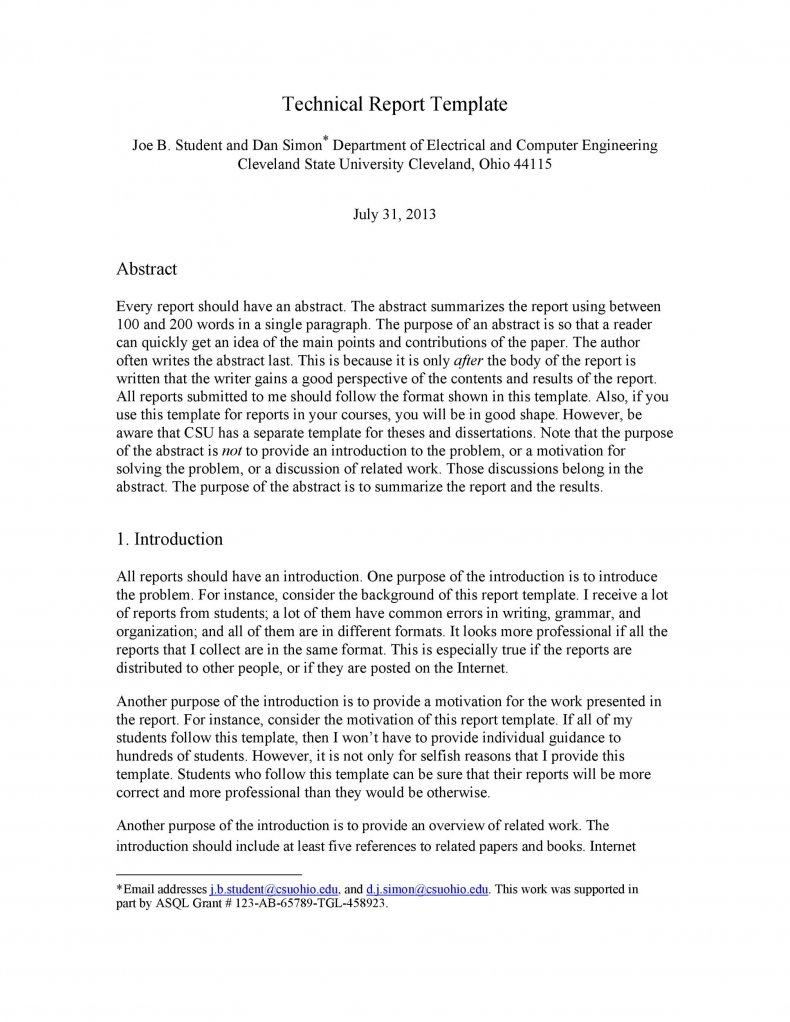 Technical Report Template 12