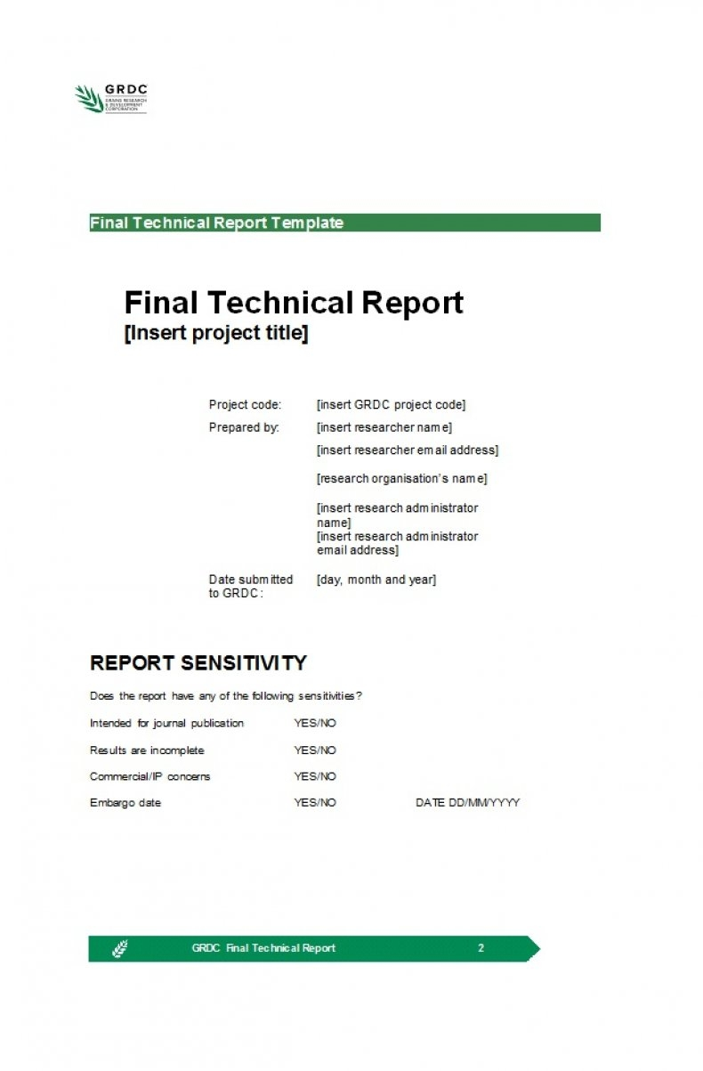 Technical Report Template 14