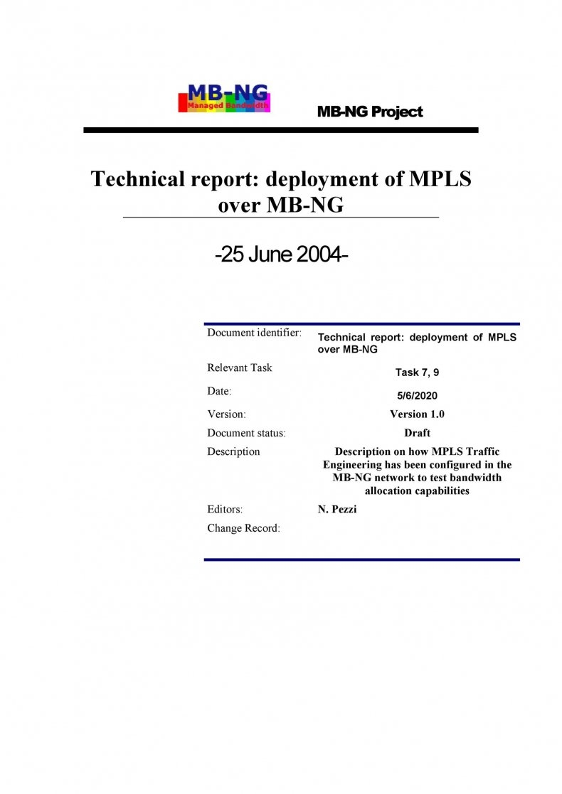 Technical Report Template 20