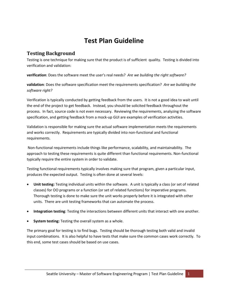 Test Plan Template 24