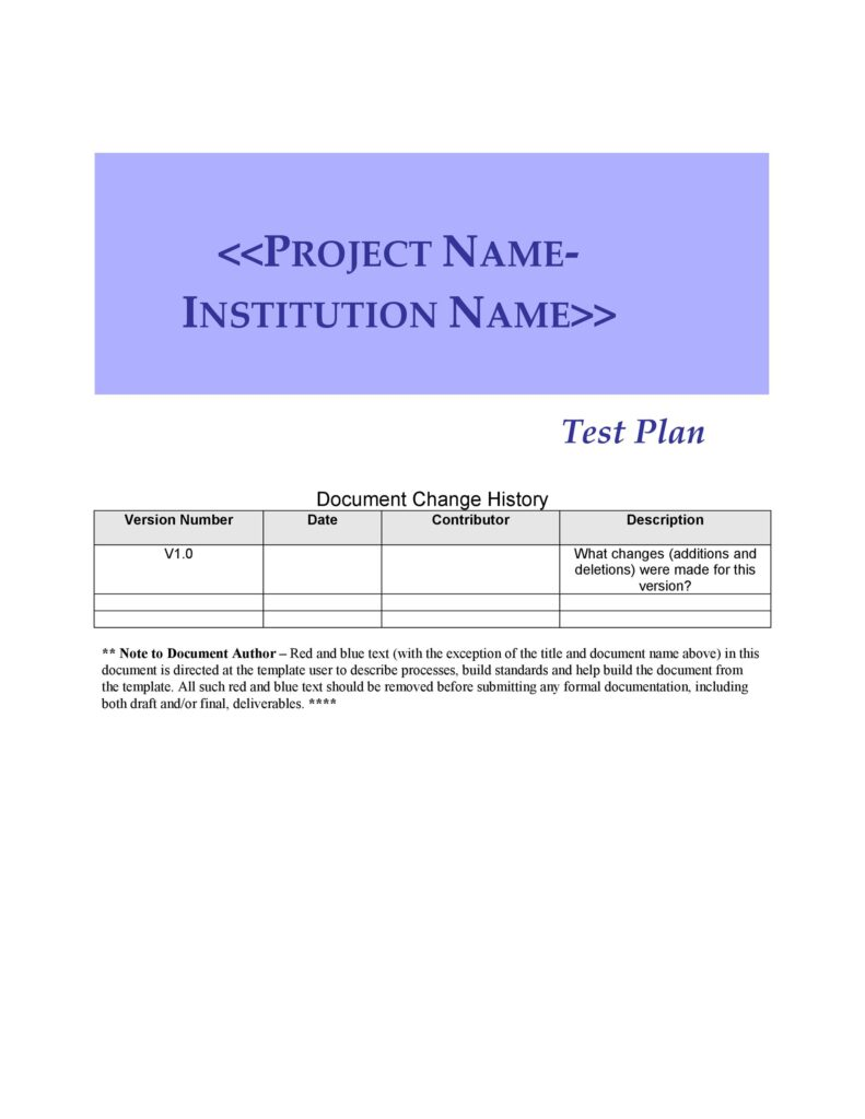 Test Plan Template 28