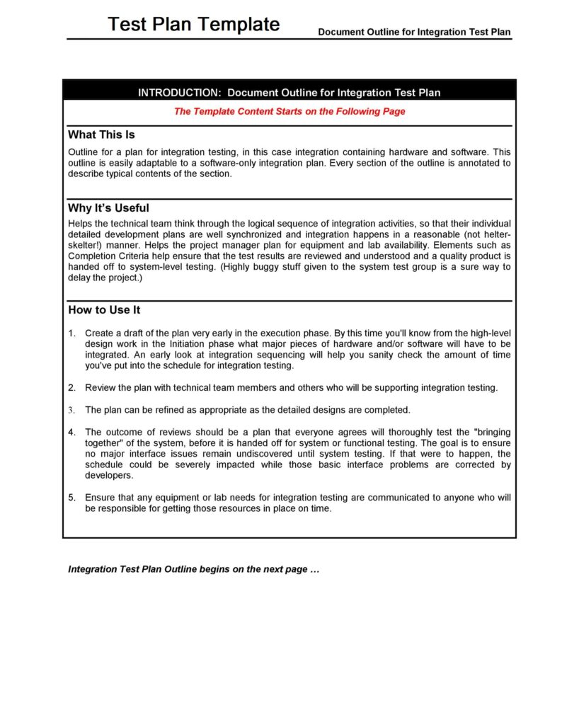 Test Plan Template 31
