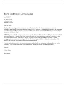 Thank You Letter Template 08