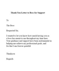 Thanks You Letter for Support 02
