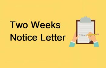 Two Weeks Notice Letter Image