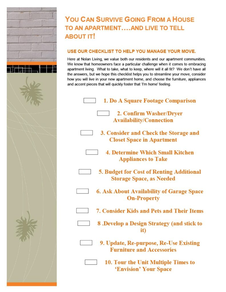 apartment checklist 15