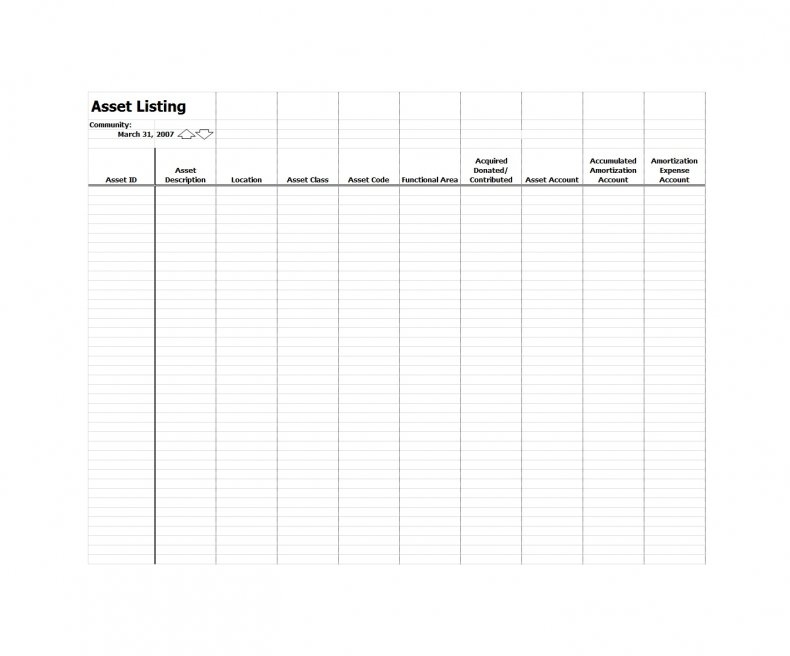 asset list excel template 26