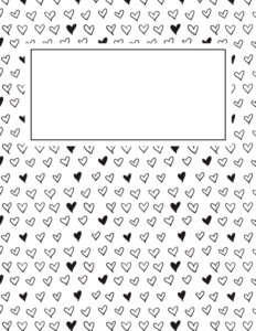 binder cover templates black and white 02