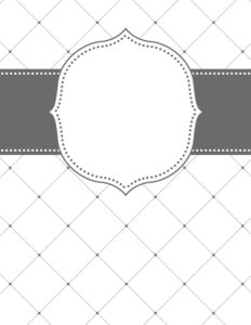 binder cover templates black and white 03