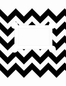 binder cover templates black and white 04