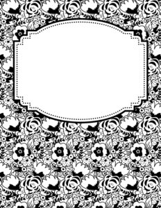 binder cover templates black and white