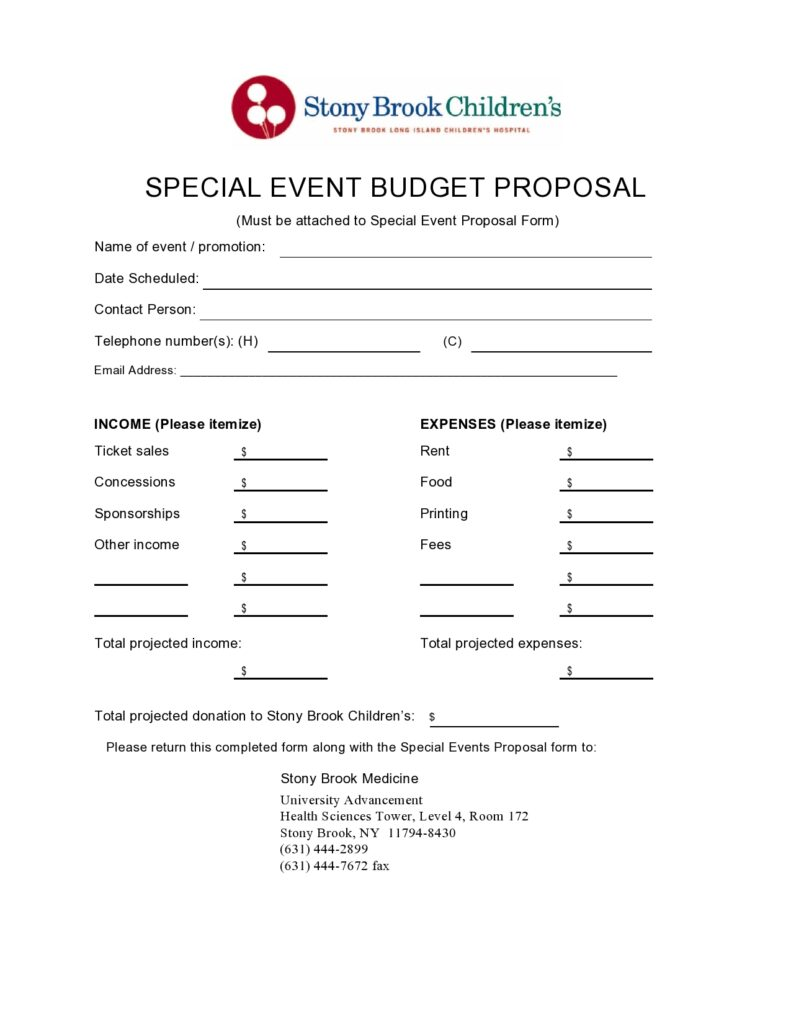 budget proposal template 16
