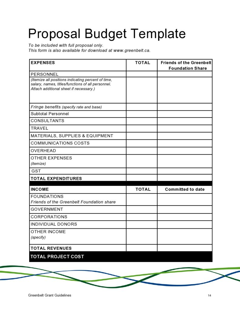 Budget Proposal Template 18