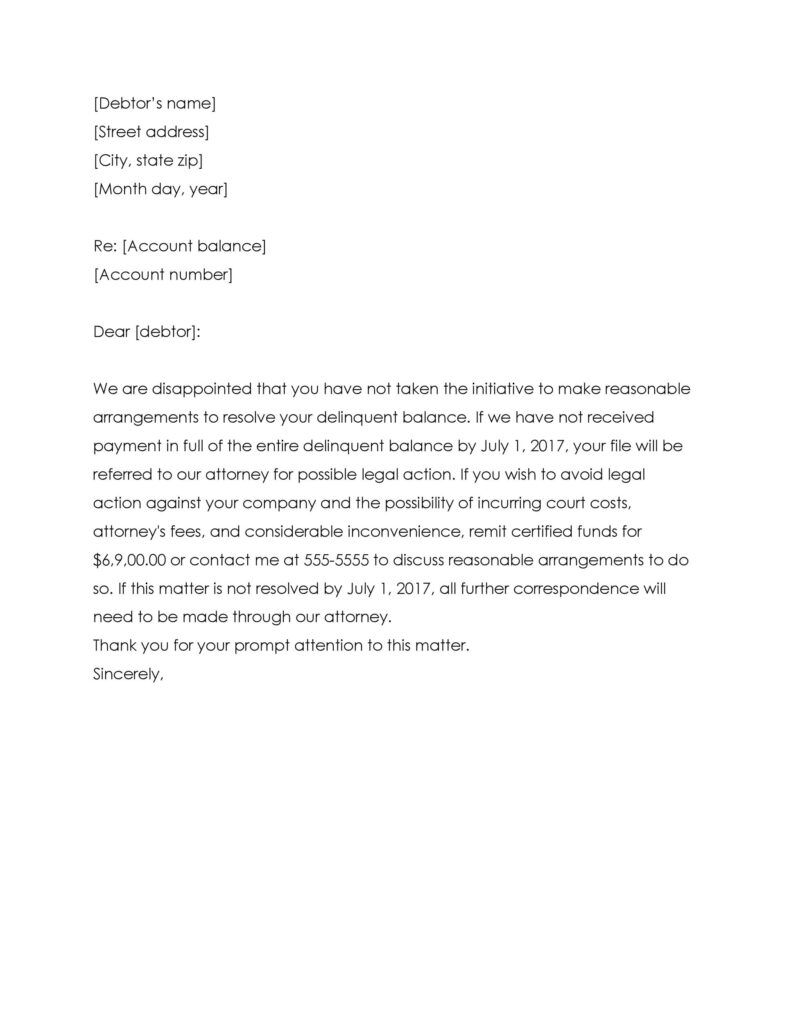 collection letter template 36