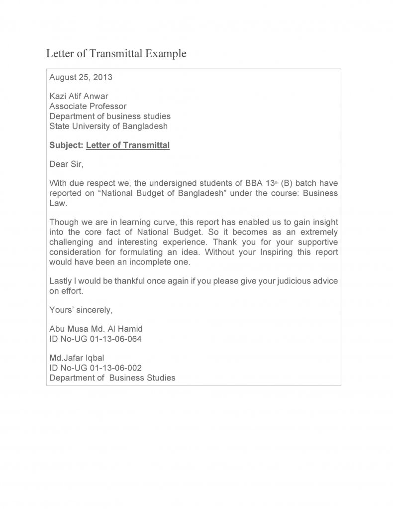 letter of transmittal sample 35