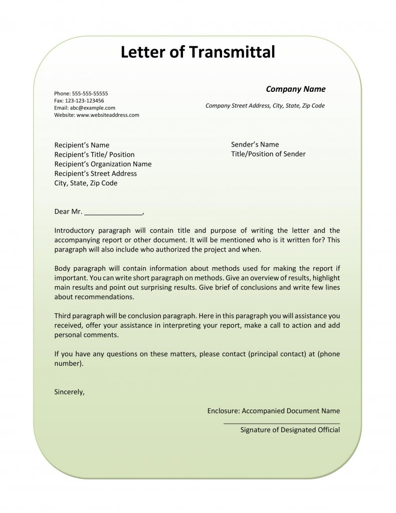 letter of transmittal sample 37