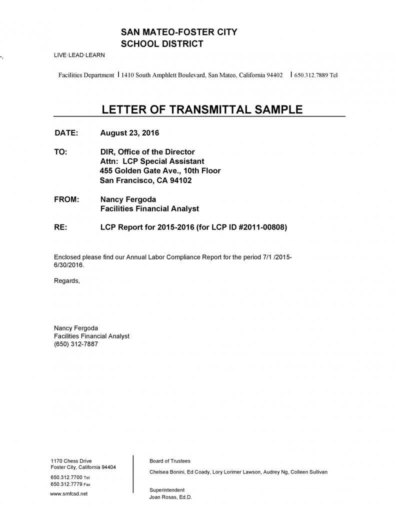 letter of transmittal sample 43