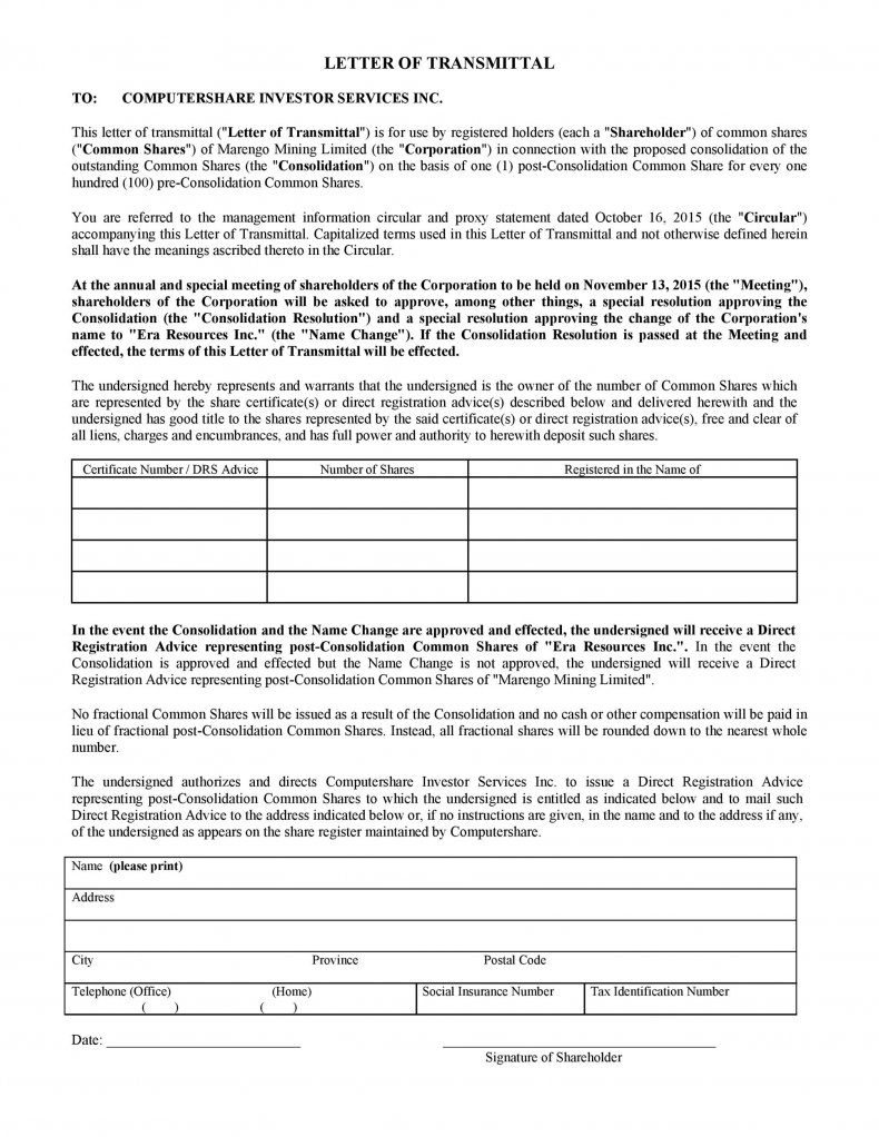 letter of transmittal template 16