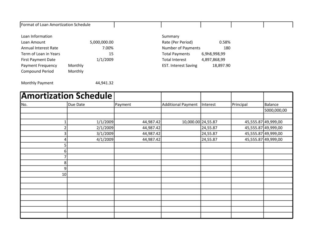 loan amortization schedule 17