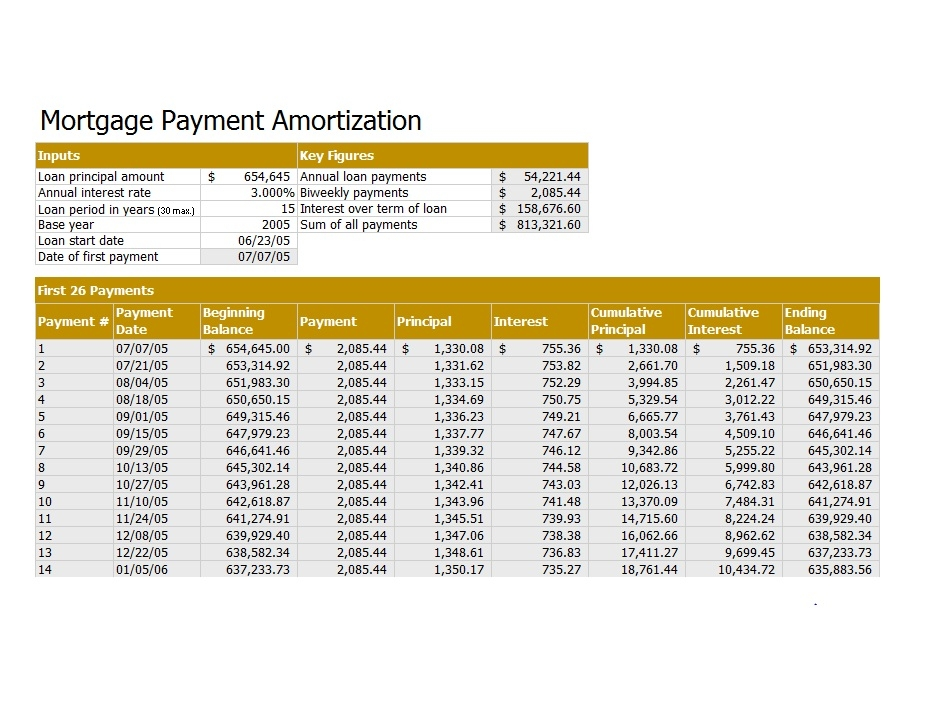 loan amortization schedule 27