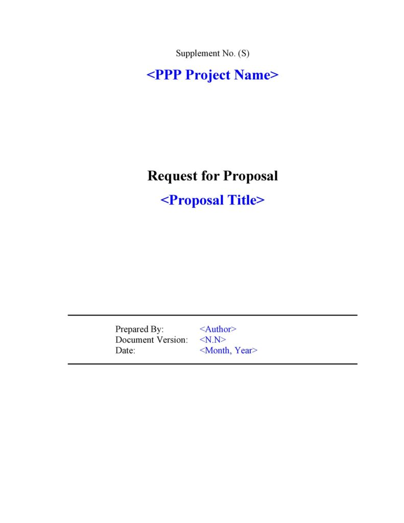 request for proposal 04
