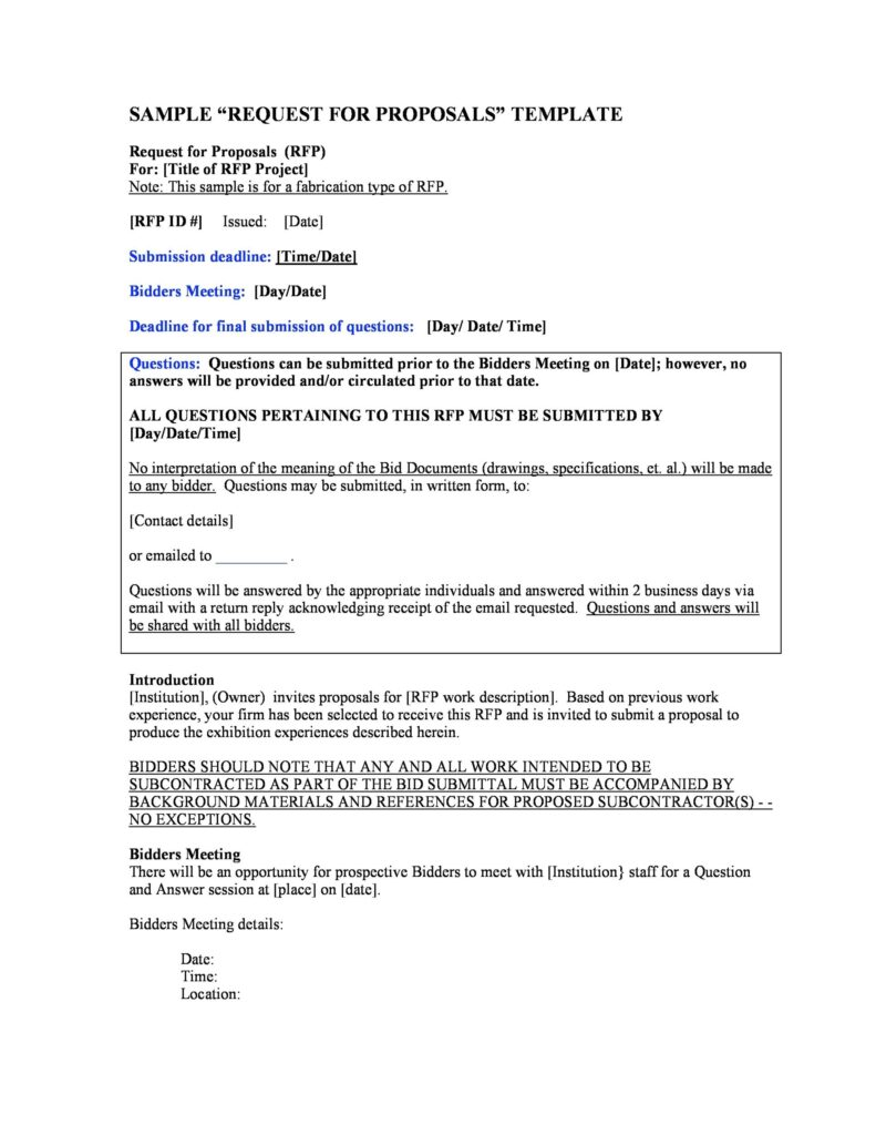 request for proposal example 19