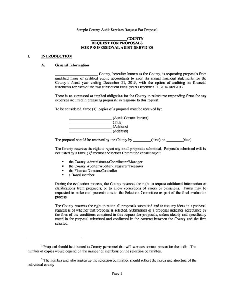 request for proposal example 22