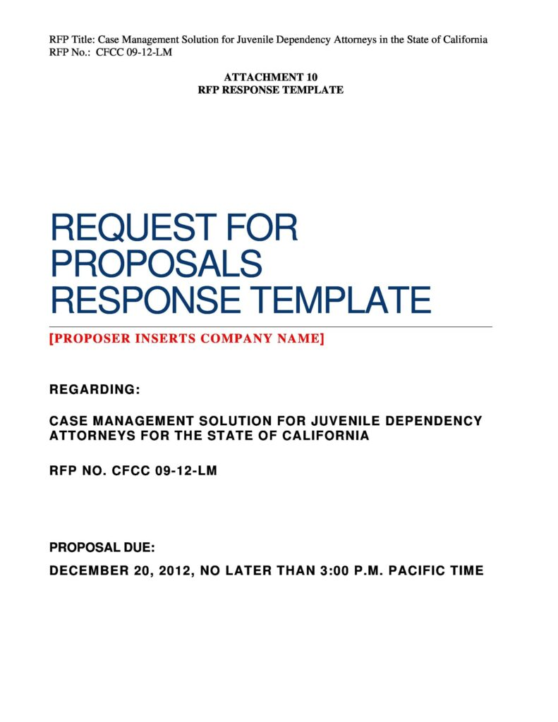 request for proposal example 25