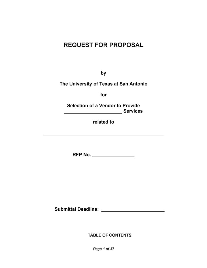 request for proposal template 12
