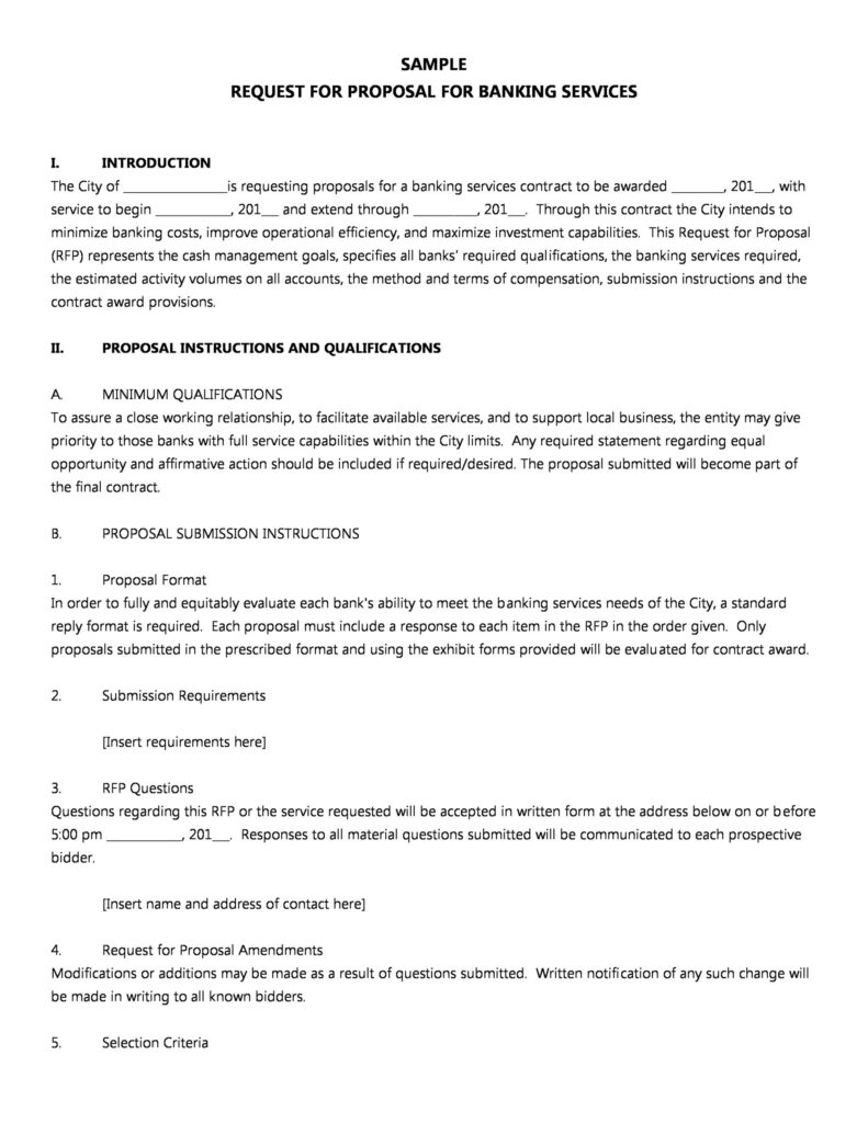 request for proposal template 15