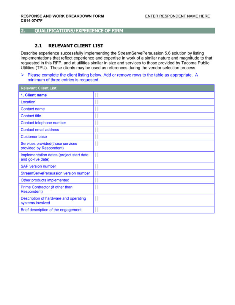 request for proposal template 31