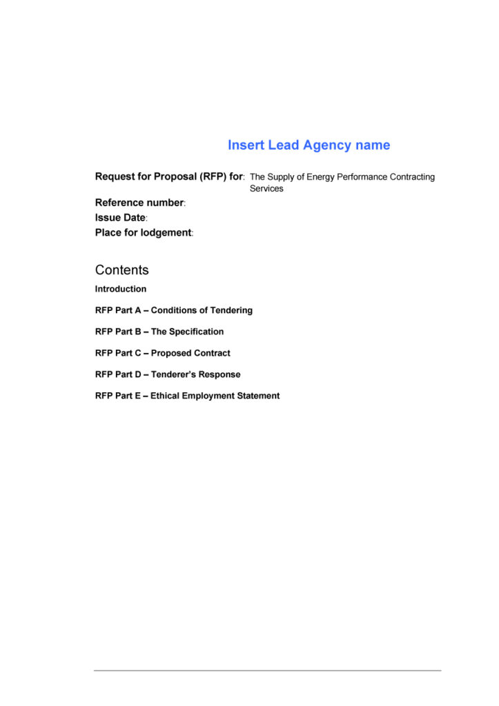 request for proposal template 33