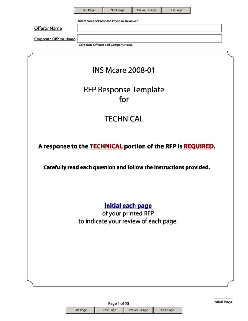 request for proposal template 34